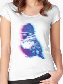 Bird Hair Day T-shirt femme moulant à col profond