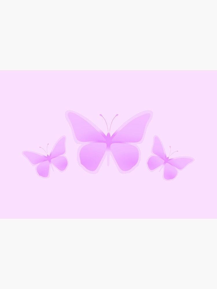 Pastel Light Pink Butterflies by RootSquare