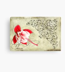 A Flower Fell on the Note He Left Canvas Print