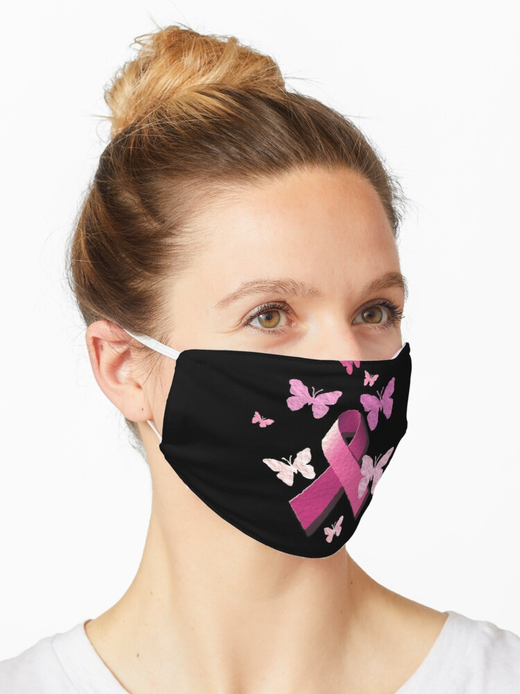 Breast Cancer Pink Awareness Ribbon Mask By Alondra Redbubble