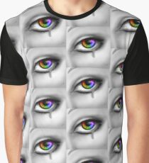 Bright Rainbow Eye with Tear Graphic T-Shirt