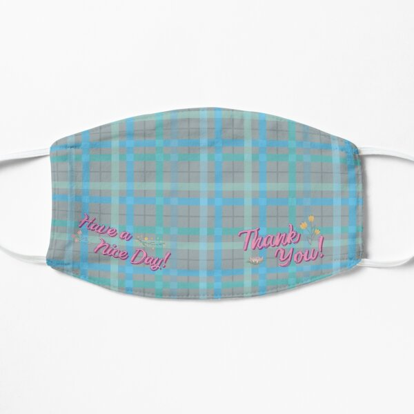 Pretty Blue Plaid Mask