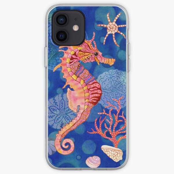 Seahorse in the Blue iPhone Soft Case