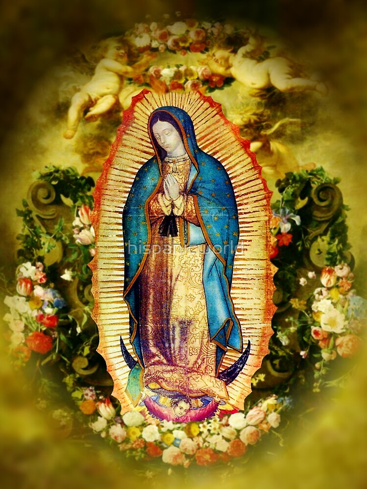 Our Lady of Guadalupe Mexican Virgin Mary Mexico Aztec Tilma 20-105 by hispanicworld