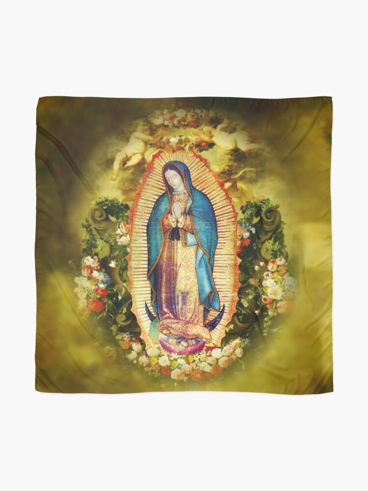 Alternate view of Our Lady of Guadalupe Mexican Virgin Mary Mexico Aztec Tilma 20-105 Scarf