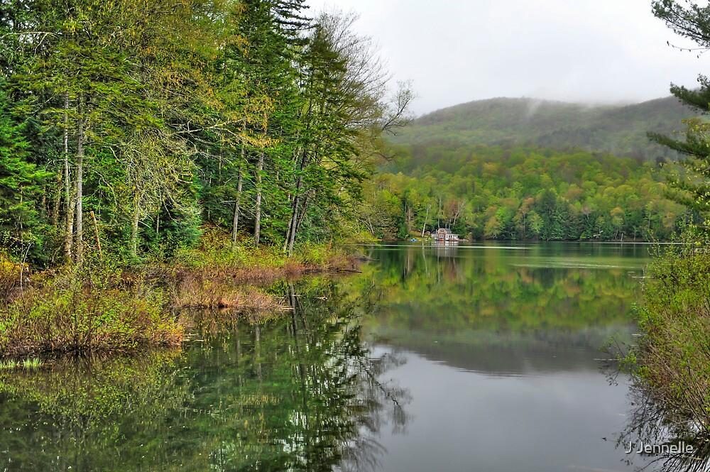 Lake Cottage In Spring by J Jennelle