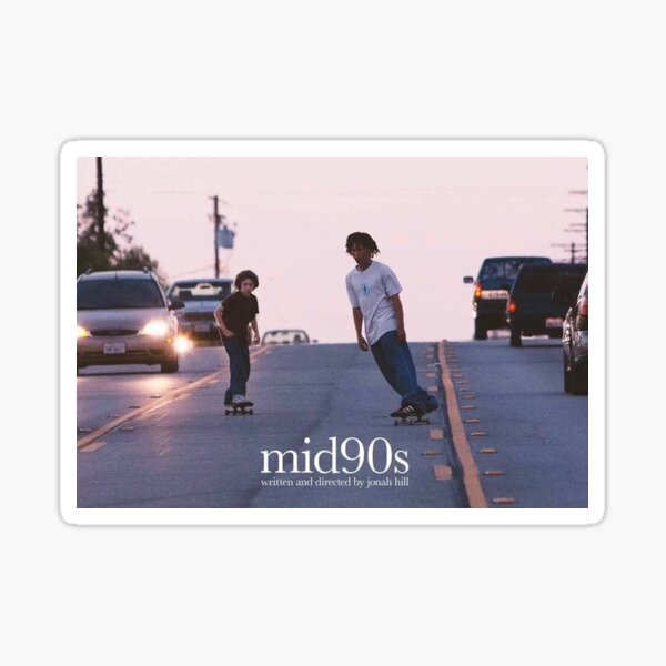 mid90s aesthetic poster Sticker