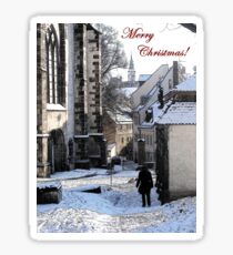 Christmas Card - Snow in Town Sticker