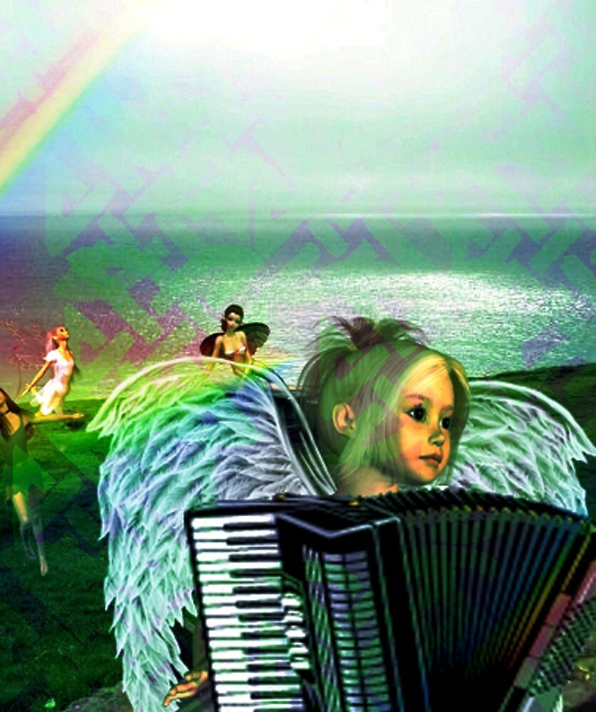 Irish Accordion Angel by Kristie Lawrence