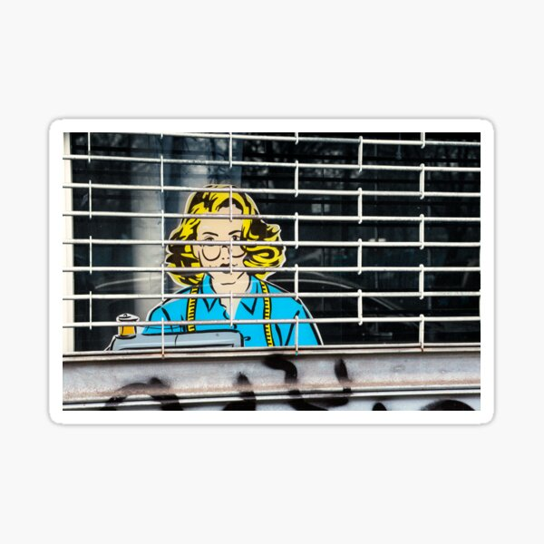 Seamstress on Ave C in ABC City – New York Sticker