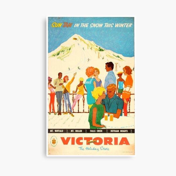 Ski Victoria - Vintage Ad/Poster Canvas Print