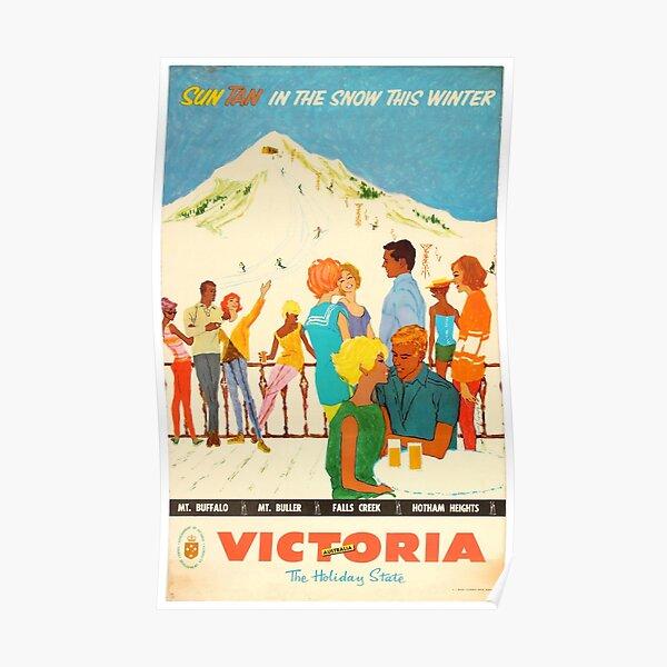 Ski Victoria - Vintage Ad/Poster Poster