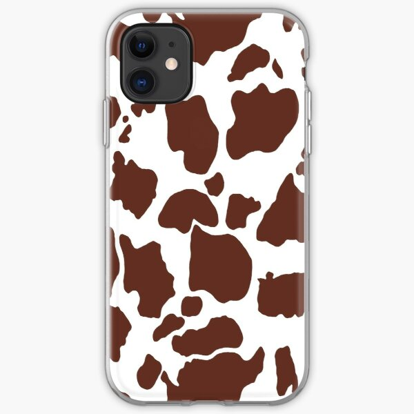 Brown cow skin pattern iPhone Soft Case