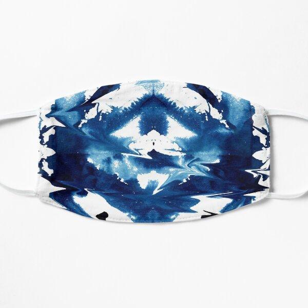 Indigo Watercolor Japanese Shibori Mask
