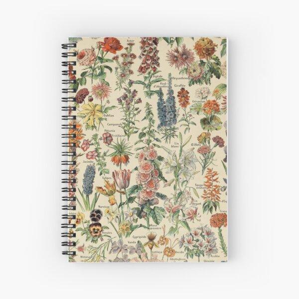 vintage french fleurs poster Spiral Notebook