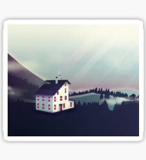 Castle in the Mountains Sticker