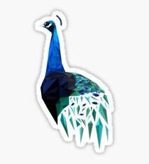 Poly Peacock Sticker