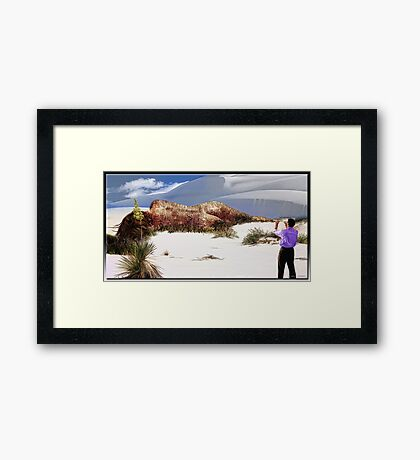 Decaying in White Sands Framed Print