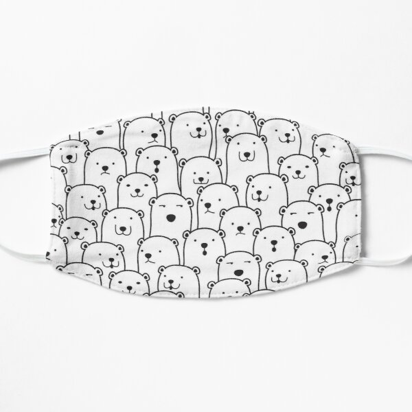 Lots of Polar Bears Mask Flat Mask