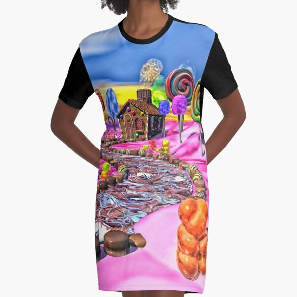 Pink Candyland Graphic T-Shirt Dress