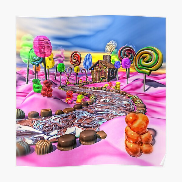 Pink Candyland Poster