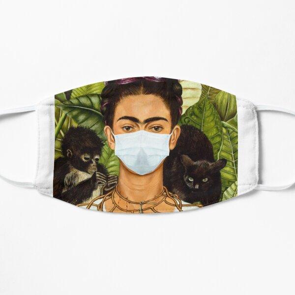 Frida Kahlo con máscara Mascarilla plana