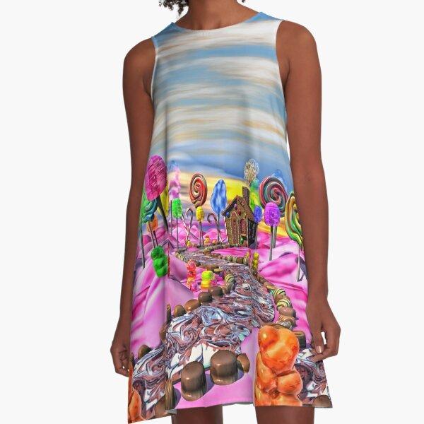 Pink Candyland A-Line Dress