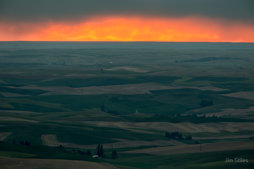 Sunset Over the Palouse by Jim Stiles