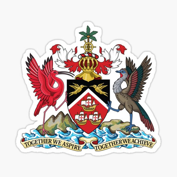 Trinidad and Tobago Coat of Arms Sticker
