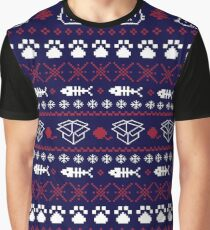 Purrfect Christmas Graphic T-Shirt