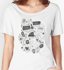 Gloom & Doom pattern Women's Relaxed Fit T-Shirt