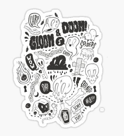 Gloom & Doom pattern Sticker