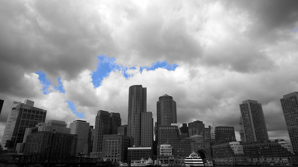Boston Harbour skyline by bartfrancois