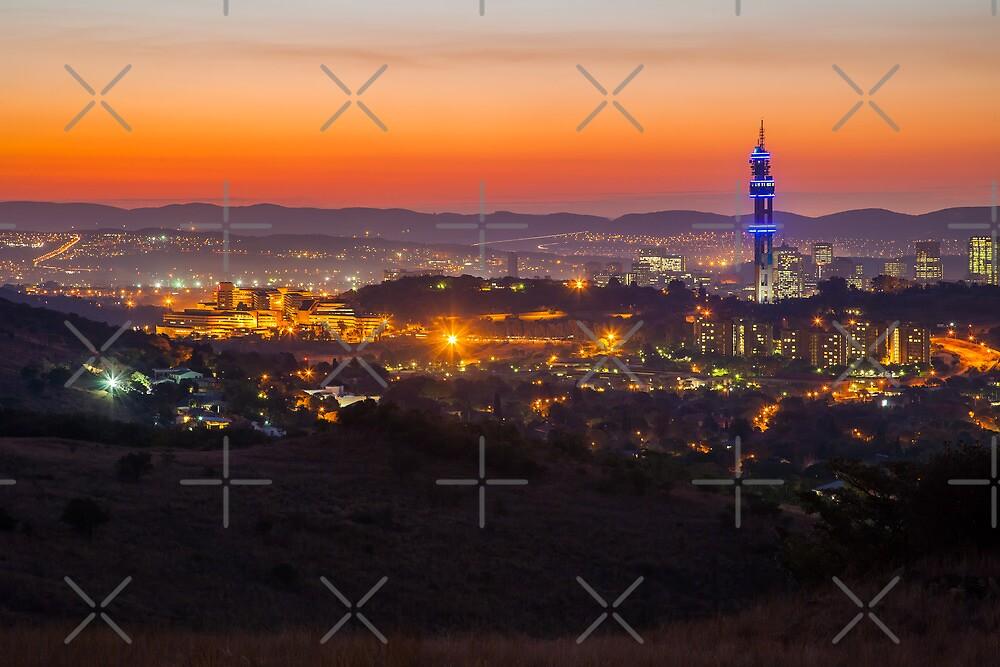 Last light over Pretoria by Rudi Venter
