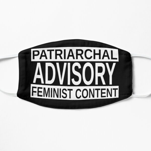 Patriarchal Advisory: Feminist Content (Inverse Colors) Small Mask