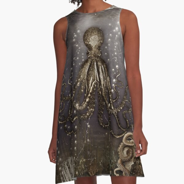 Octopus' lair - Old Photo A-Line Dress