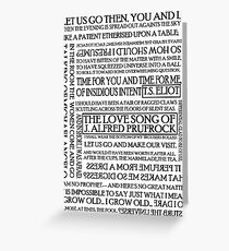 The Love Song of J. Alfred Prufrock Greeting Card