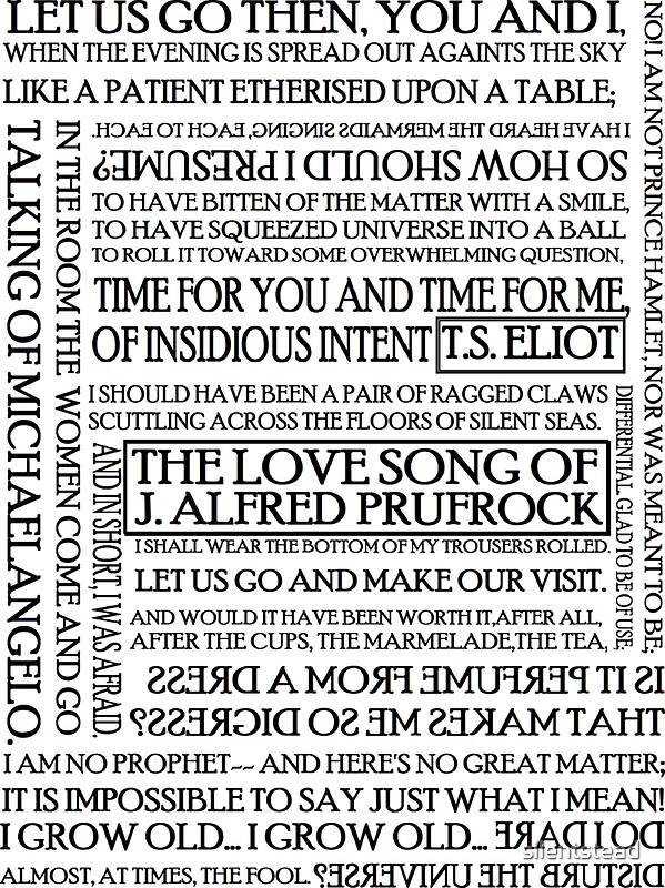 essays on the love song of j. alfred prufrock This free english literature essay on the love song of j alfred prufrock is perfect for english literature students to use as an example.