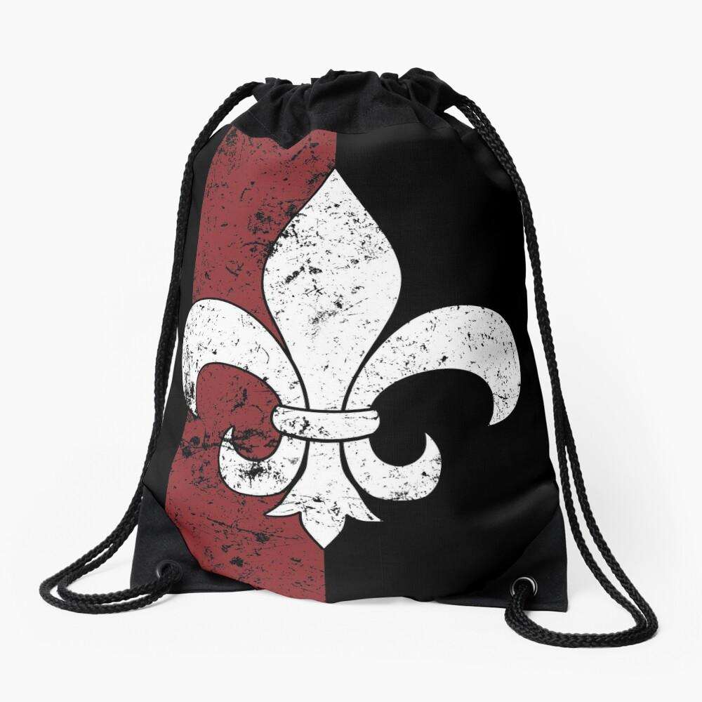 Fleur De Lis Drawstring Bag