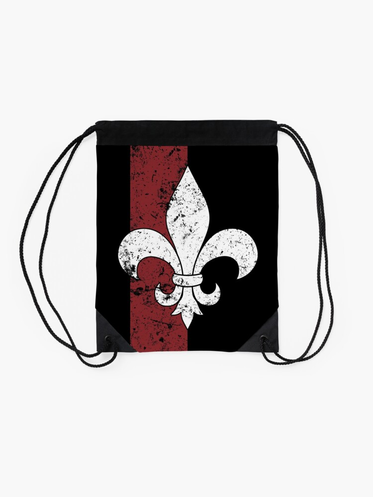 Alternate view of Fleur De Lis Drawstring Bag