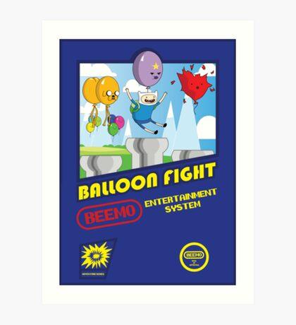 Adventure in Balloon Fighting Art Print