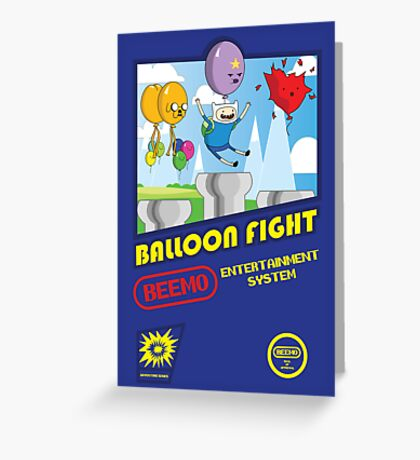Adventure in Balloon Fighting Greeting Card