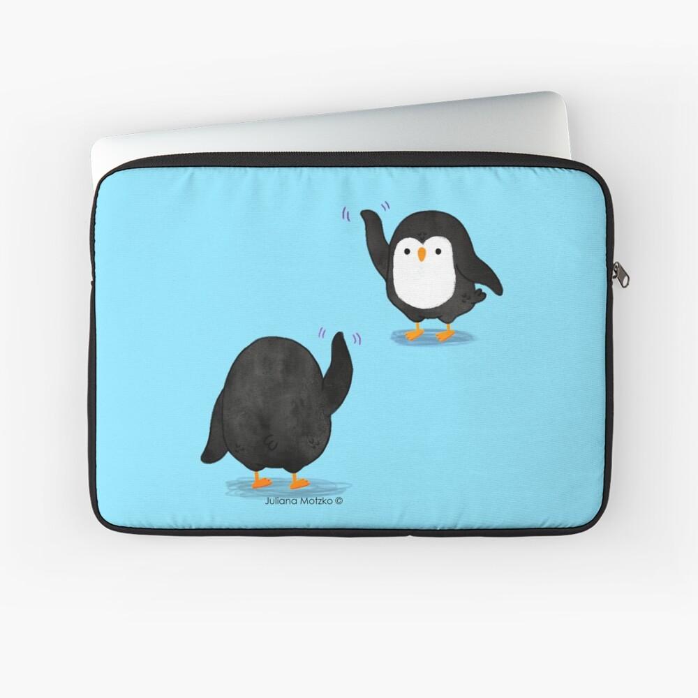 Penguins Waving Laptop Sleeve