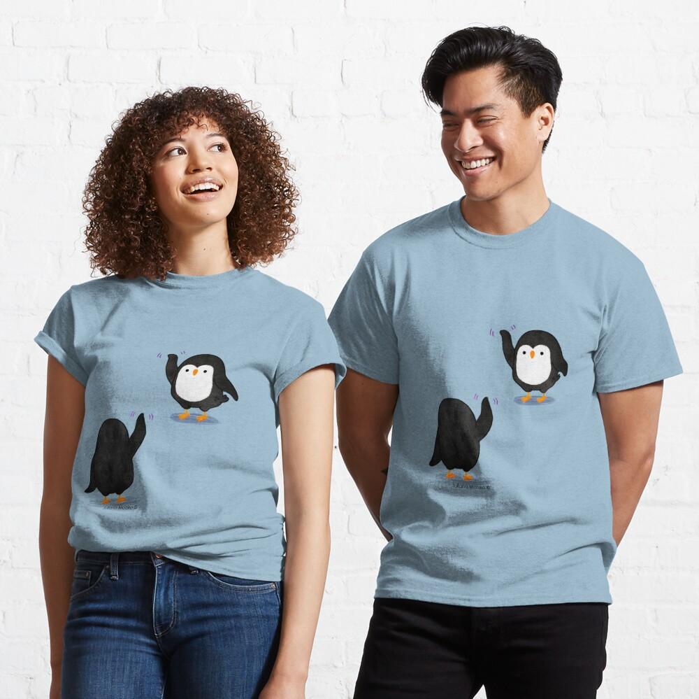Penguins Waving Classic T-Shirt