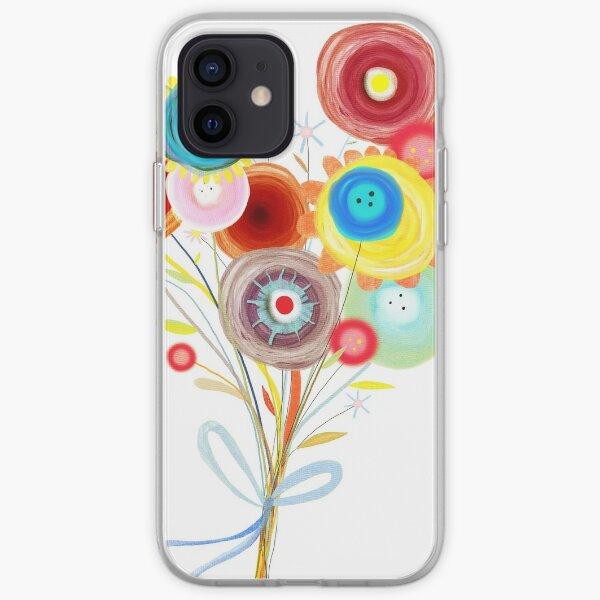 Impresionante ramo de novia Ranunculus Funda blanda para iPhone