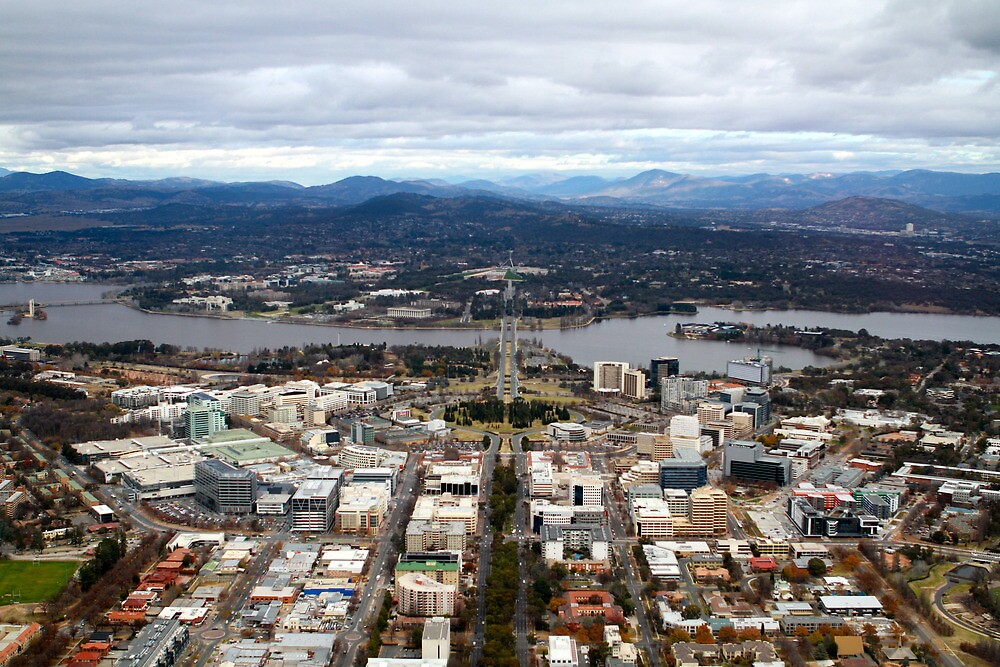 Aerial view of Canberra by styles