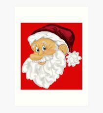 Happy Santa  Art Print