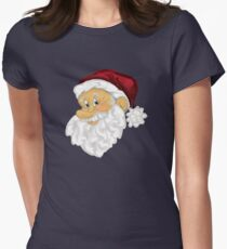 Happy Santa  Women's Fitted T-Shirt