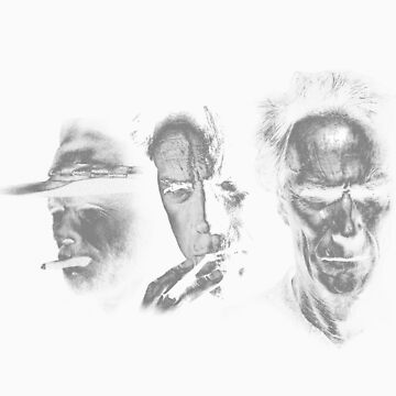 Clint Eastwood Evolution by Gelato