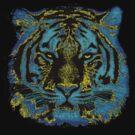 Vintage Tiger Fine Art by Nhan Ngo